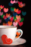 Valentine's day cup Stock Photos