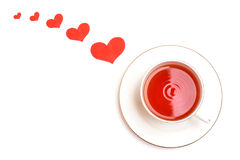 Valentine's day cup Royalty Free Stock Photography