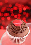 Valentine's day cupcake Stock Images