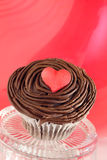 Valentine's day cupcake Stock Image