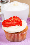 Valentine's day cupcake Royalty Free Stock Images