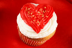 Valentine's day cupcake Royalty Free Stock Photo