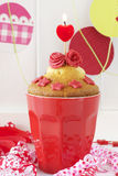 Valentine's Day Cupcake Royalty Free Stock Photos