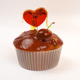 Valentine's day cupcake Stock Photography