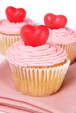 Valentine's day cupcakes Royalty Free Stock Photos