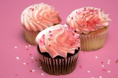 Valentine's Day Cupcakes Stock Photo