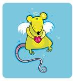 Valentine's Day cupid rat Stock Photos