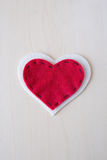 Valentine's day Cute felted hearts Royalty Free Stock Image
