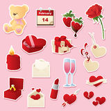 Valentine's Day Cutouts Royalty Free Stock Images