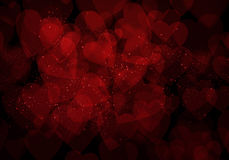 Valentine's day dark red hearts background Royalty Free Stock Photo