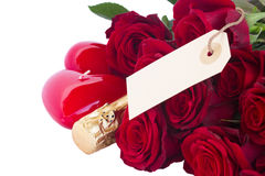 Valentine's day  dark red  roses Stock Images