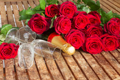 Valentine's day  dark red  roses Royalty Free Stock Photo