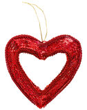 Valentine's day decoration heart. Isolated on white stock images