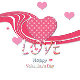 Valentine's day. Decoration with hearts velentine's day Royalty Free Stock Photo
