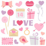 Valentine's Day decoration vector set. Great for Valentine's Day design and scrapbook. Vector illustration. More sets you can find in my portfolio Stock Image