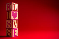 Valentine S Day Decoration With The Word LOVE Royalty Free Stock Photography