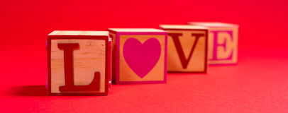 Valentine's Day decoration with the word LOVE Stock Images