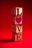 Valentine's Day decoration with the word LOVE Stock Image