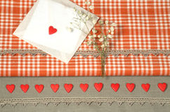 Valentine's Day decorations backgrounds for greeting card Royalty Free Stock Photography