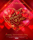 Valentine's Day decorative background with hearts, flowers and butterflies. Template for greeting card, wedding Stock Photos
