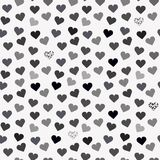 Seamless background pattern with grey hearts. Royalty Free Stock Photos