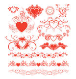 Valentine's day design elements. Royalty Free Stock Images