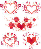 Valentine's day design elements. Royalty Free Stock Photo