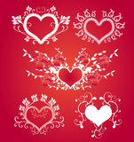 Valentine's day design elements. Collection of decorative design elements, could be used for romantic valentine's day cards, invitations vector illustration