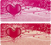 Valentine's day design elements. Collection of decorative design elements, could be used for romantic valentine's day cards, invitations royalty free illustration