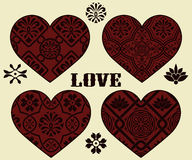 Valentine's day Design Elements Royalty Free Stock Photo