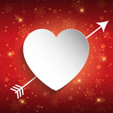 Valentine's Day design with heart Stock Images