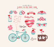 Valentine's day design, labels, icons elements collection Stock Photography