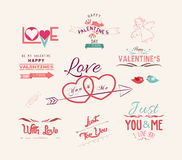 Valentine's day design, labels, icons elements collection Stock Image