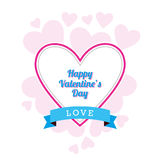 Valentine's Day Design. A Valentine's Day design with random hearts Stock Photos