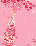Valentine's Day design with space for text Royalty Free Stock Photography