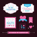Valentine's Day Designs. A set of Valentine's themed design elements Royalty Free Stock Photo
