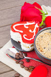 Valentine`s day dessert Stock Photos