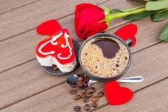Valentine`s day dessert Stock Images