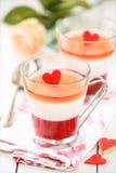 Valentine's Day dessert Stock Images