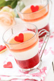 Valentine's Day dessert Stock Image