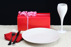 Valentine's Day Dinner Royalty Free Stock Image
