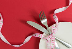 Valentine's day dinner meal Royalty Free Stock Photo