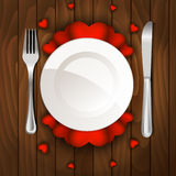 Valentine's day dinner Royalty Free Stock Photos