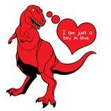 Valentine's Day Dino Love Stock Photo