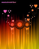 Valentine's Day Disco Flayer Royalty Free Stock Images