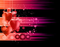 Valentine's Day Disco Flayer Stock Images
