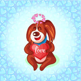 Valentine's Day dogs with envelope Royalty Free Stock Photos