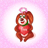Valentine's Day dogs with envelope Stock Image