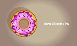 Valentine´s day donut Stock Photo