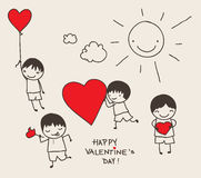 Valentine's Day doodle Stock Images